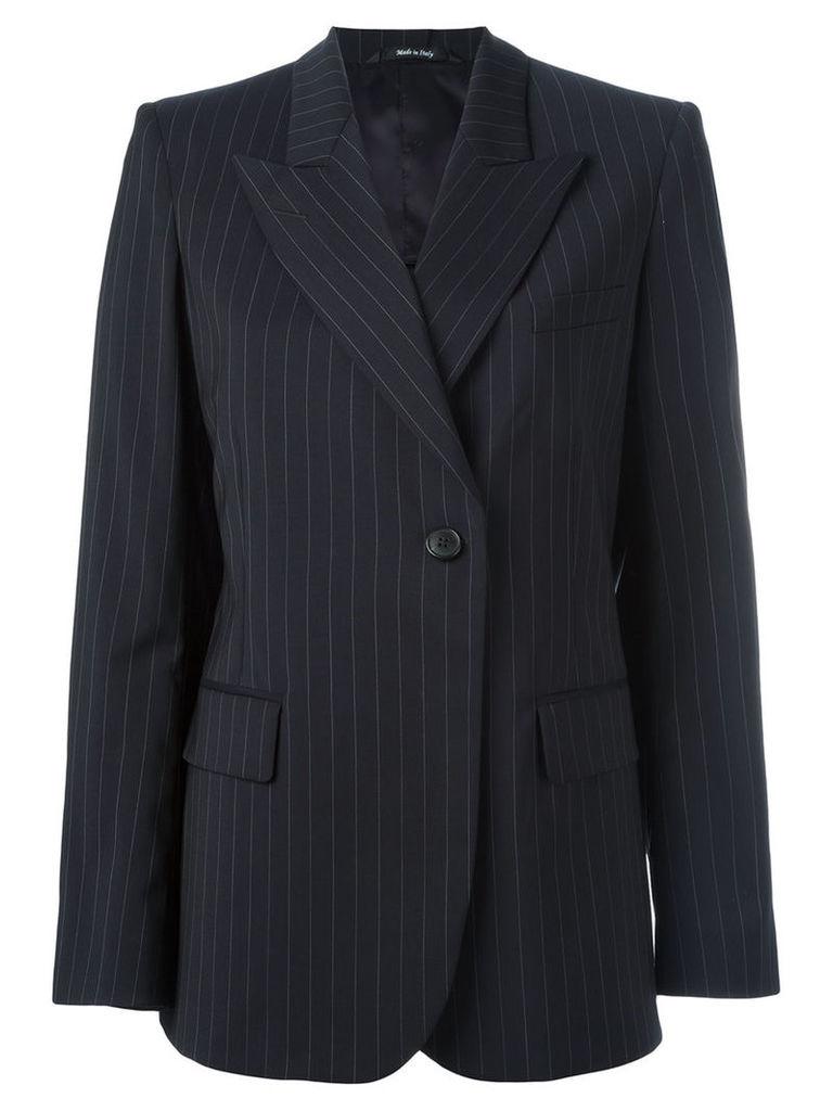 Maison Margiela pinstripe peak lapel blazer, Women's, Size: 44, Blue