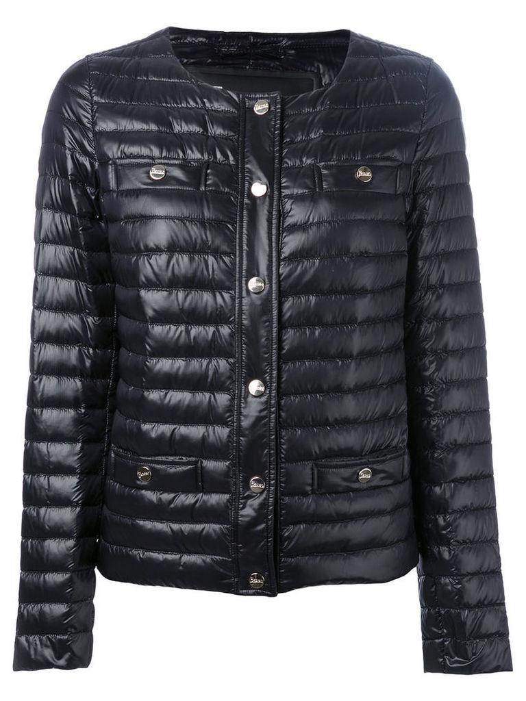 Herno collarless padded jacket, Women's, Size: 44, Black