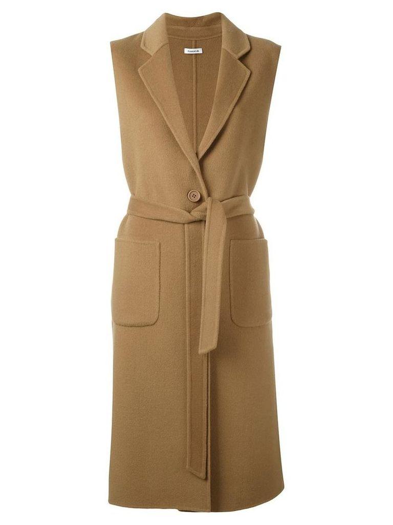 P.A.R.O.S.H. 'Lovely' sleeveless coat, Women's, Size: Medium, Brown