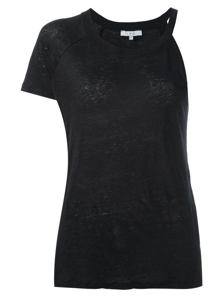 Iro asymmetric top, Women's, Size: Large, Black