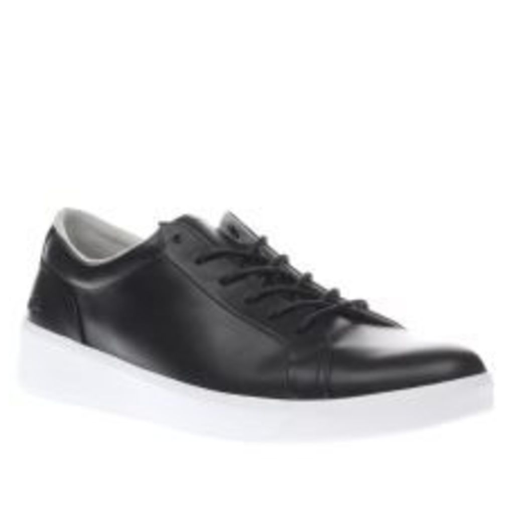 Lacoste Black & White Rochelle Lace Trainers