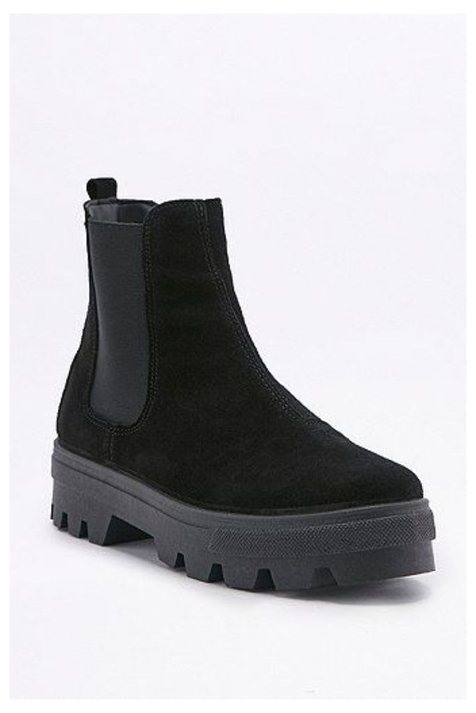 Emma Black Chelsea Cleat Ankle Boots, Black