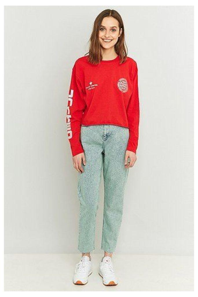 BDG Acid Washed Mint Mom Jeans, Mint