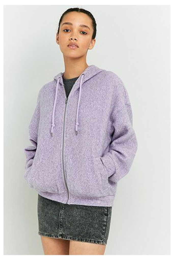 BDG Cosy Seamed Hoodie, Lilac