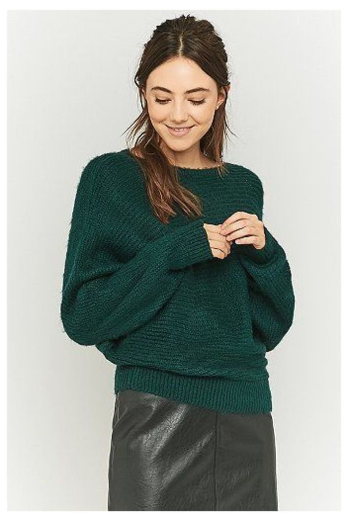Urban Outfitters Knitted Batwing Jumper, Green