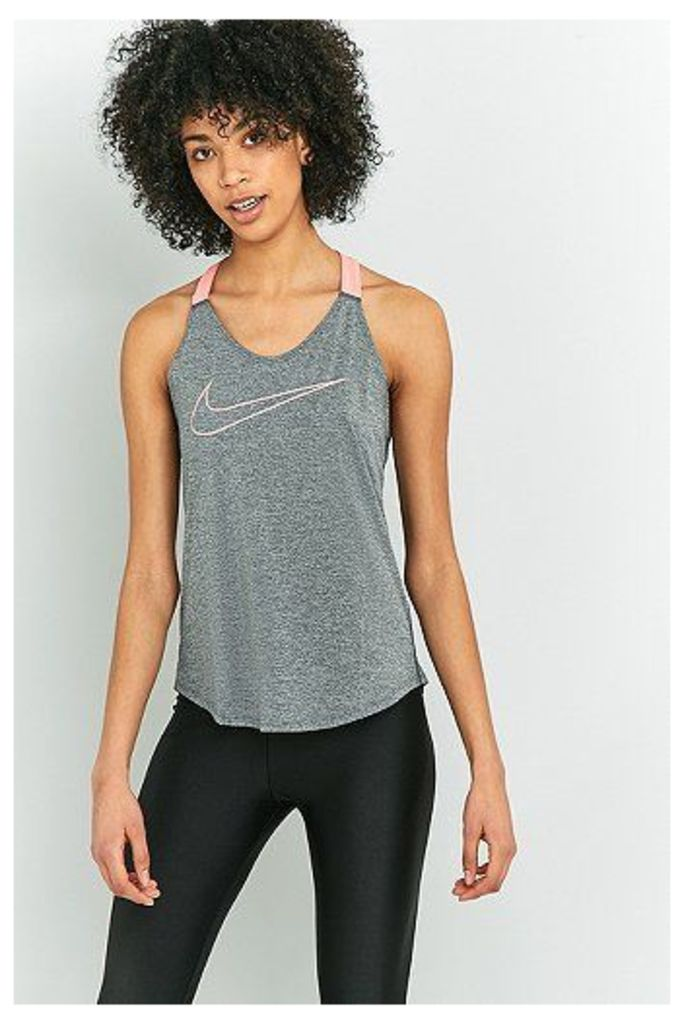 Nike Dry Training Grey and Pink Tank Top, Grey