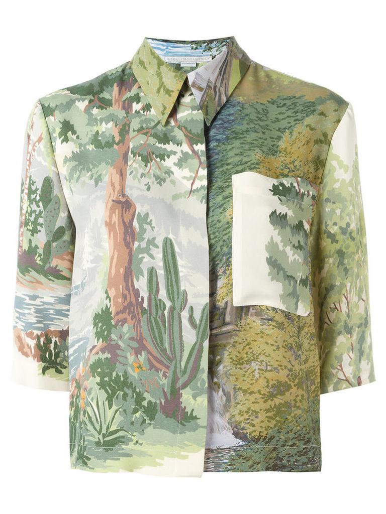 Stella McCartney woodland print shirt, Women's, Size: 42, Green