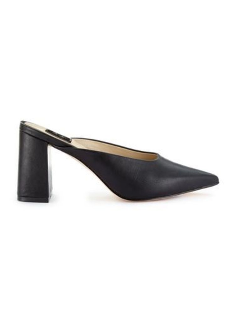 Womens LUCIE Point Backless Court Shoes, Black