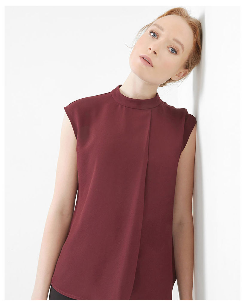 Ted Baker Long line layered top Oxblood