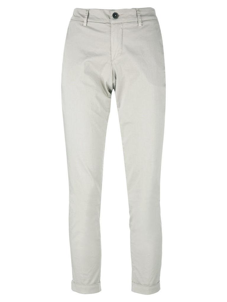 Fay long chinos pants, Women's, Size: 28, Grey