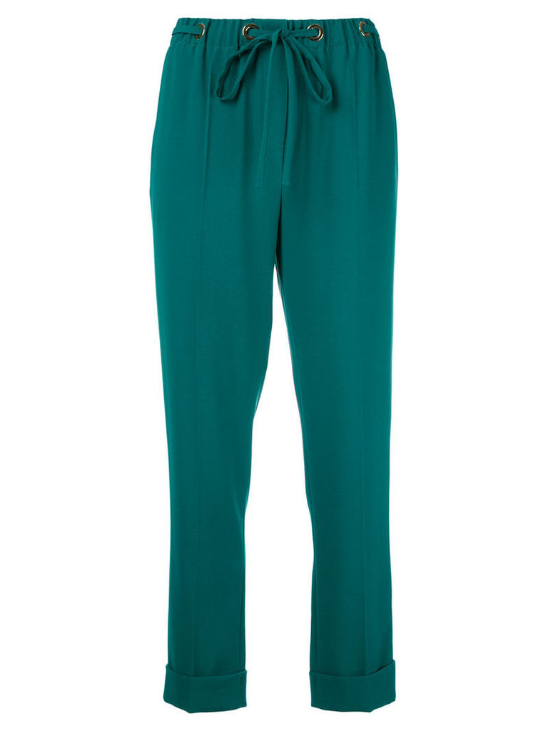 Kenzo drawstring trousers, Women's, Size: 36, Green