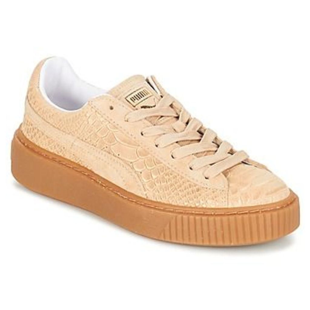 Puma  PUMA PLATFORM EXOTICSKIN WN'S  women's Shoes (Trainers) in BEIGE