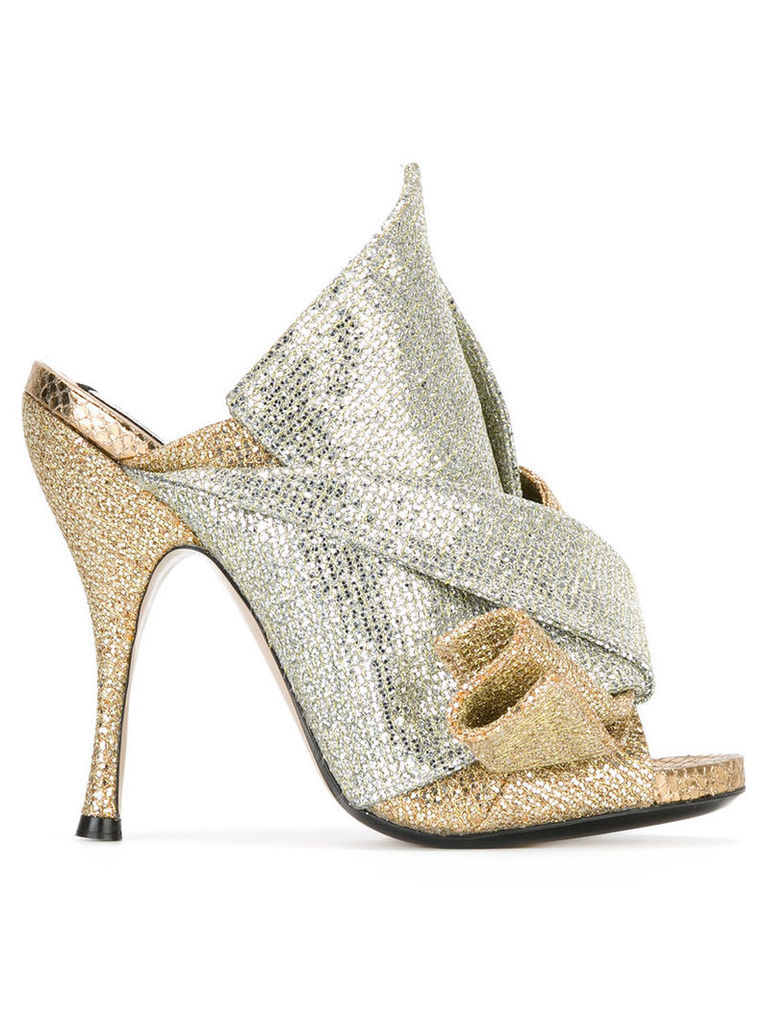 No21 metallic (Grey) glittery mules, Women's, Size: 38