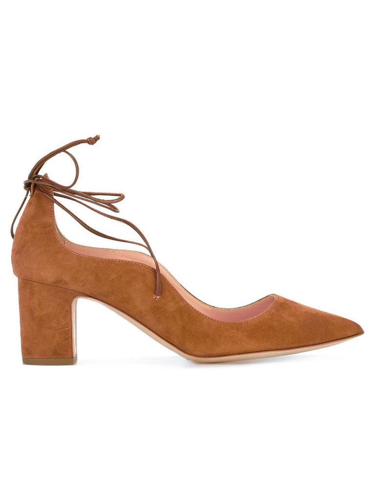 Rupert Sanderson lace up pumps, Women's, Size: 37, Brown