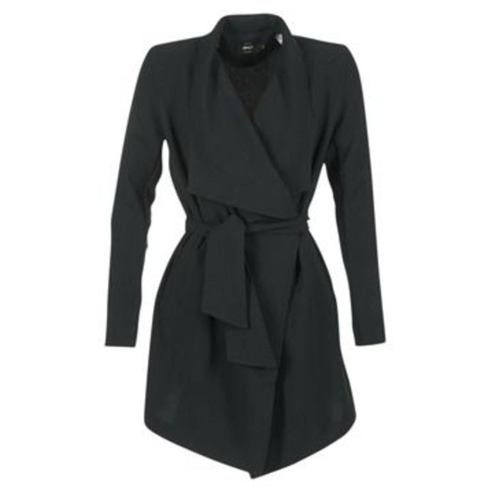 Only  RUNA  women's Trench Coat in Black