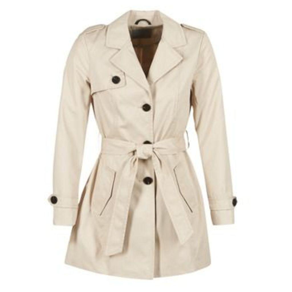 Vero Moda  ON ABBY  women's Trench Coat in BEIGE