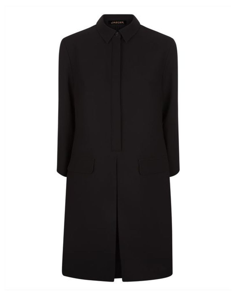 Crepe Pocket Detail Dress