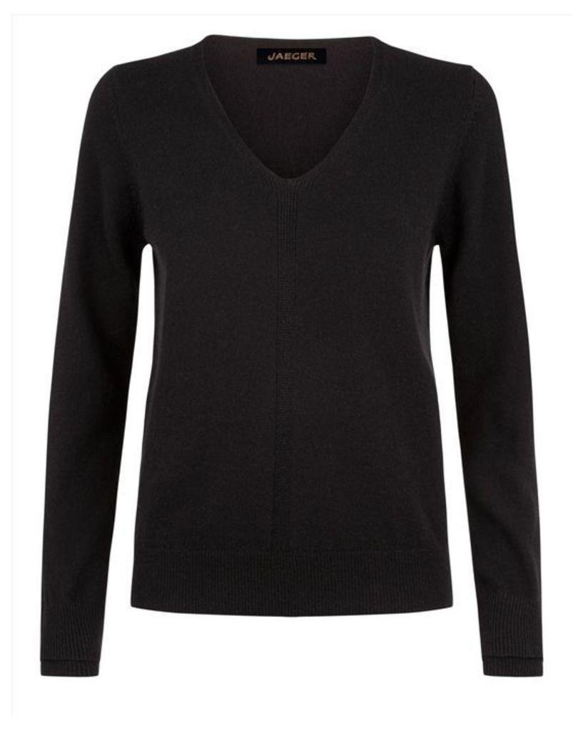 Cashmere Double-Trim Sweater