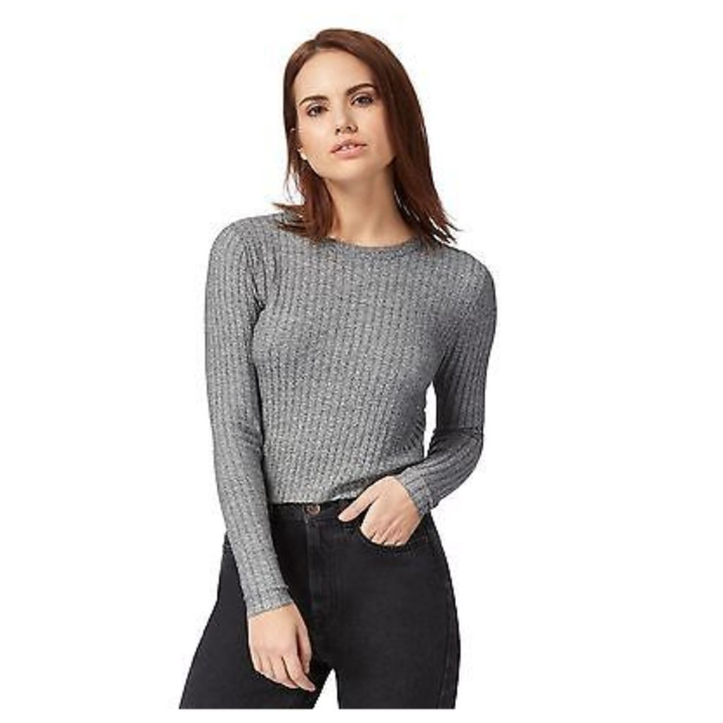 Red Herring Womens Grey Cropped Jumper From Debenhams