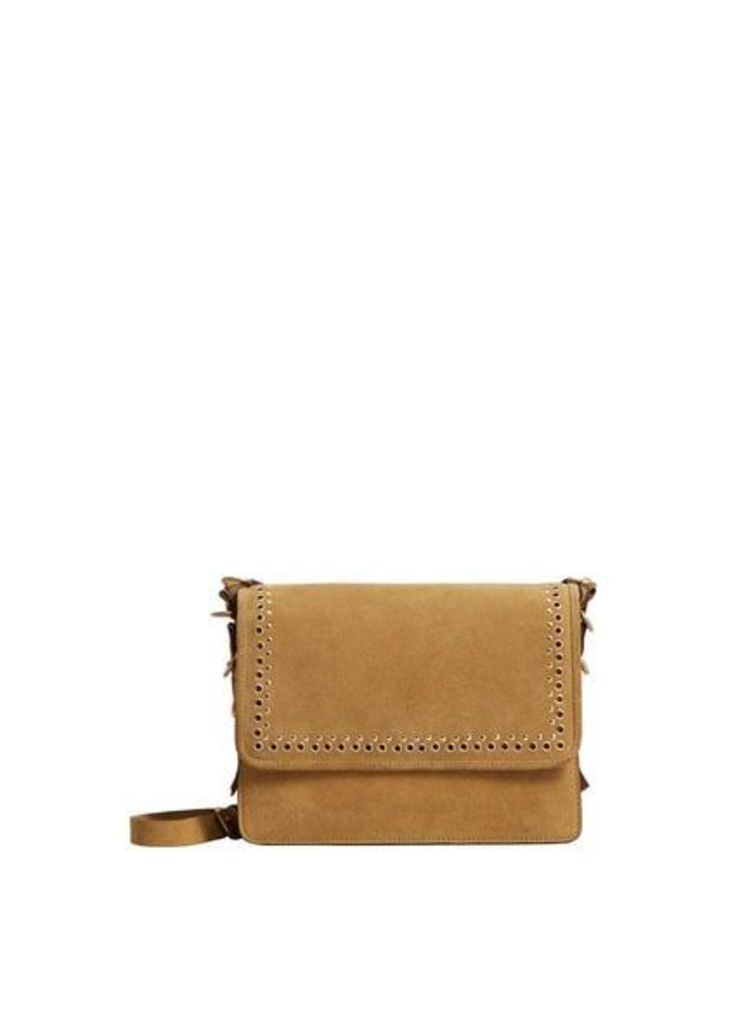 Stud leather bag