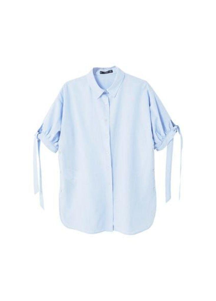 Bow cotton shirt