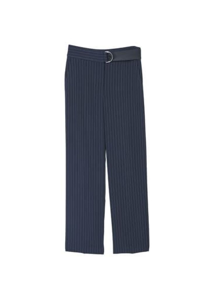 Chalk-stripe trousers