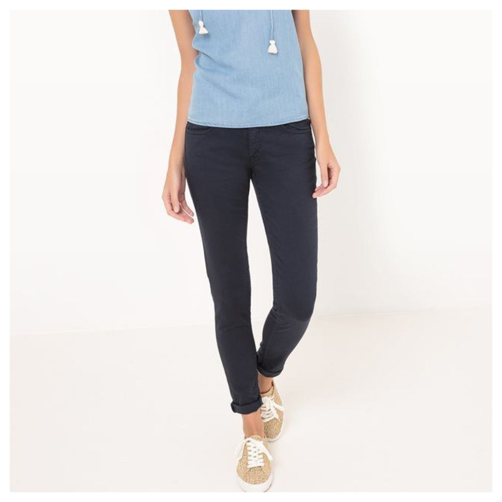 Slim Fit Trousers with Regular Waist