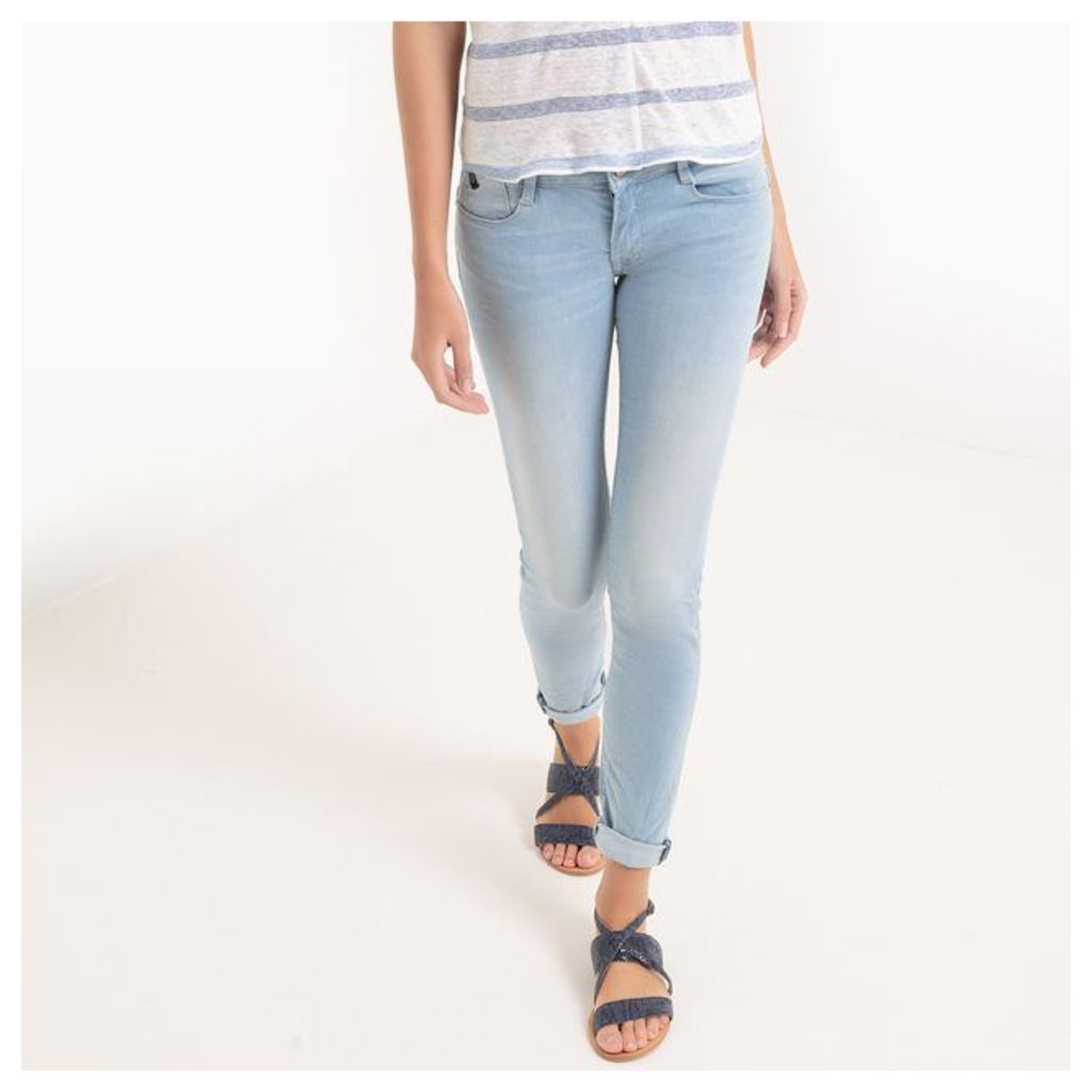 Slim Fit Jeans, Standard Waist, Length 32, with Push-Up Effect