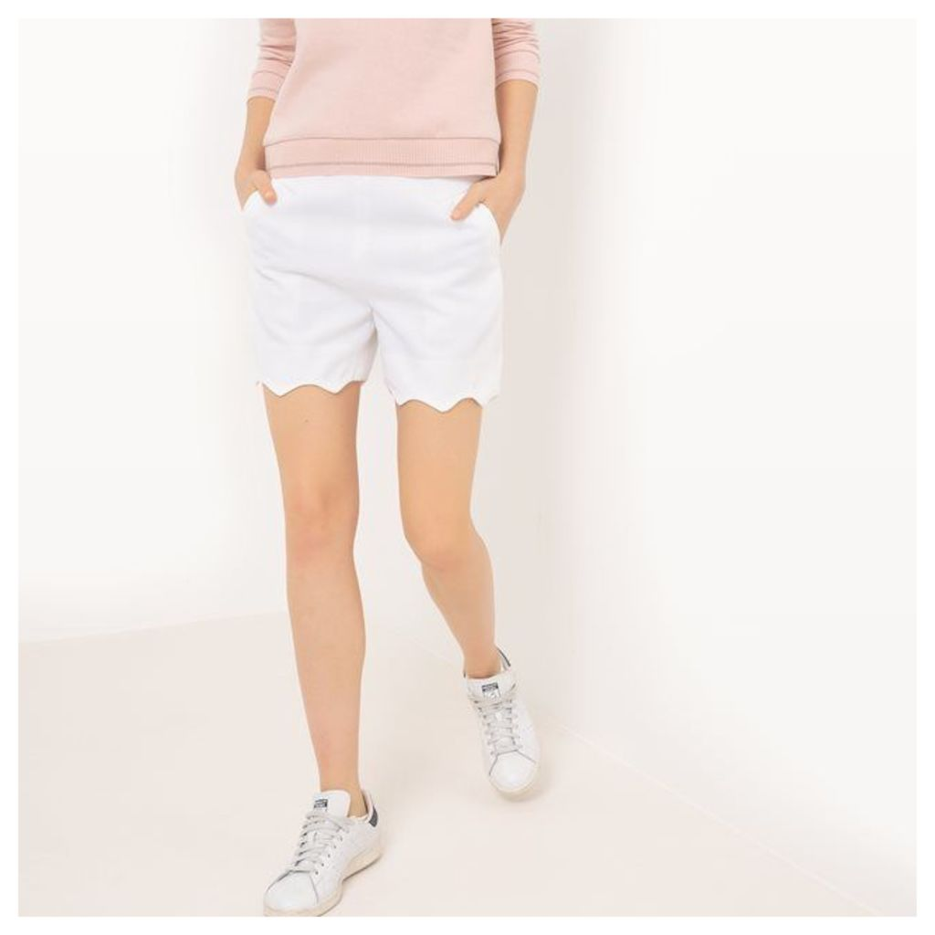 Mademoiselle R Shorts with Scalloped Edges