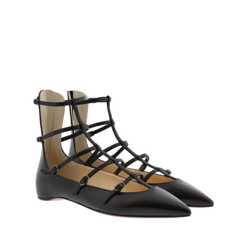 Christian Louboutin Sandals - Toerless Muse Flat Kid Leather Black - in black - Sandals for ladies