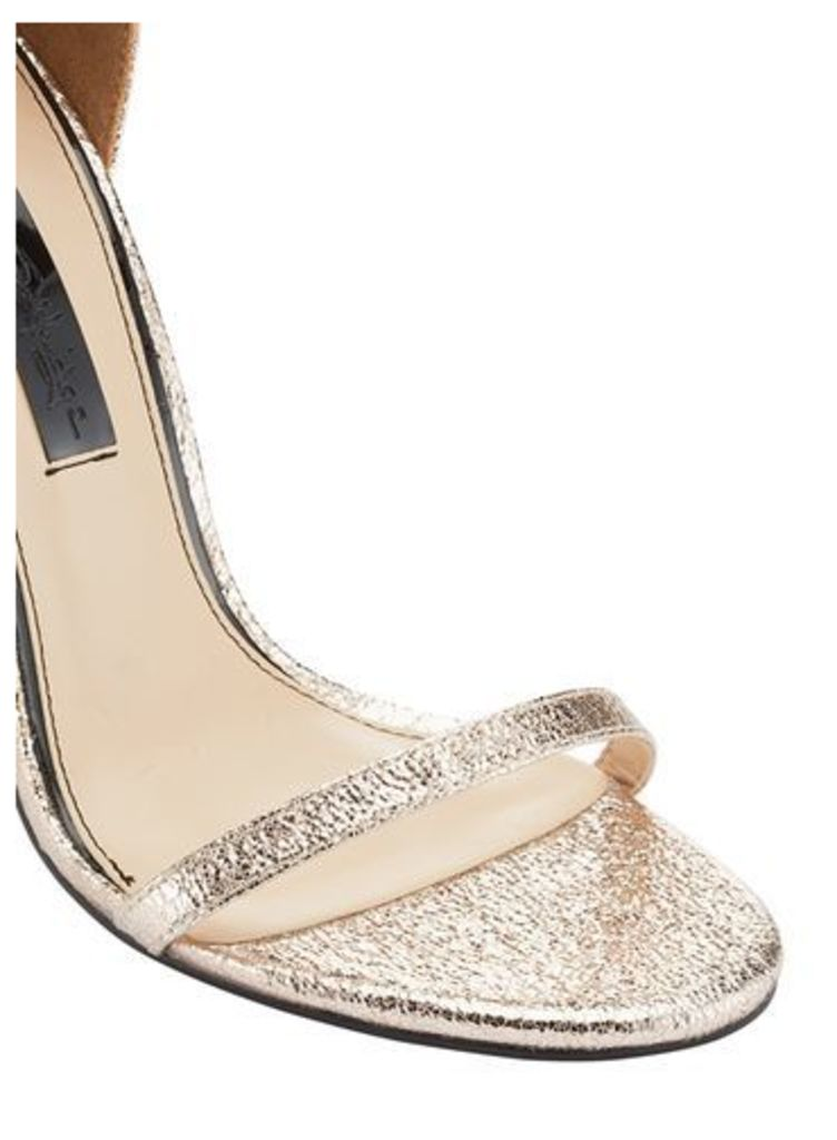 Womens CHESSI Metallic Barely There Sandals, Rose Gold