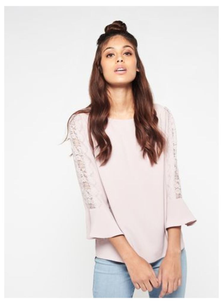 Womens Lilac Lace Blouse, Lilac