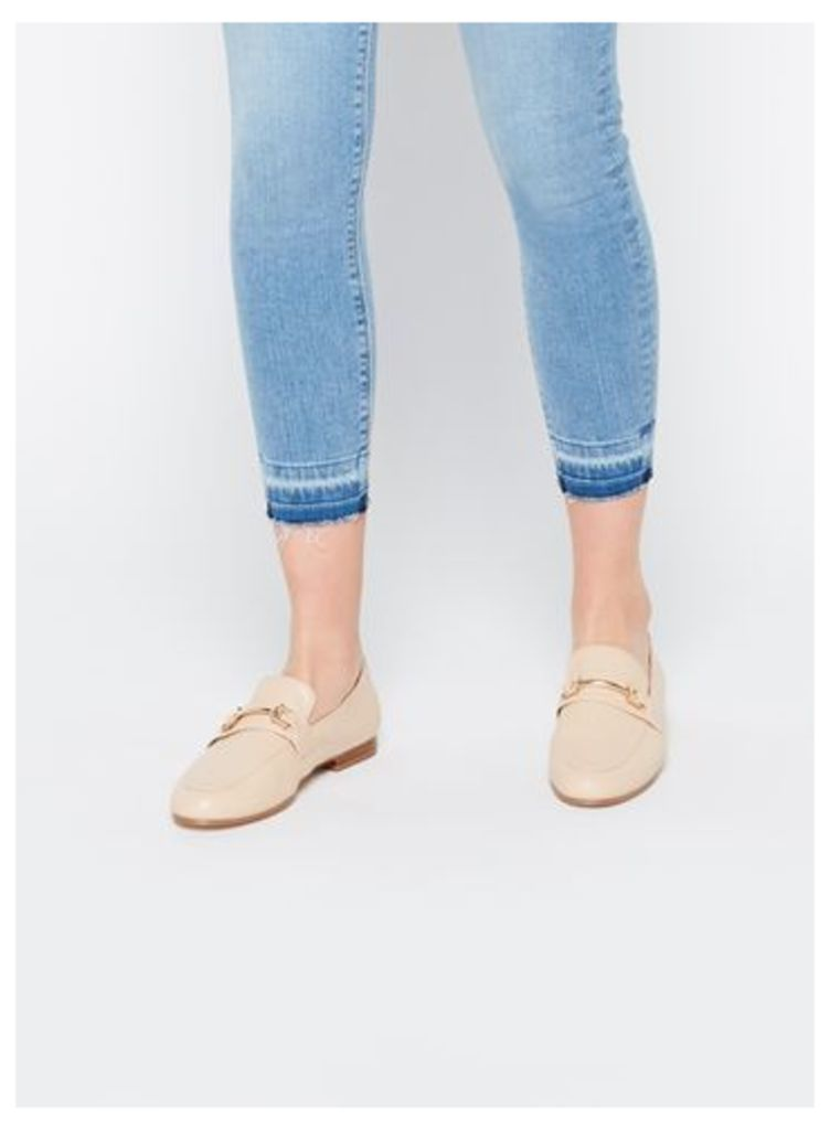 Womens EVITA Nude Gold Full Loafers, Nude