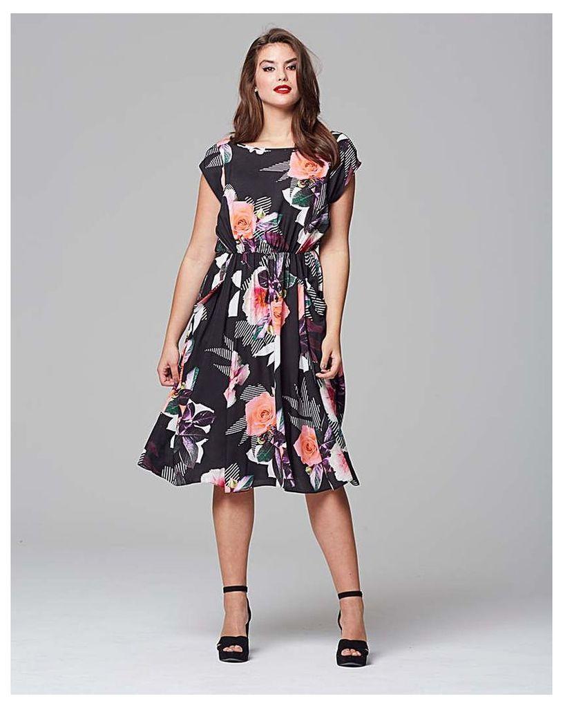Scarlett & Jo Leaf Floral Tea Dress
