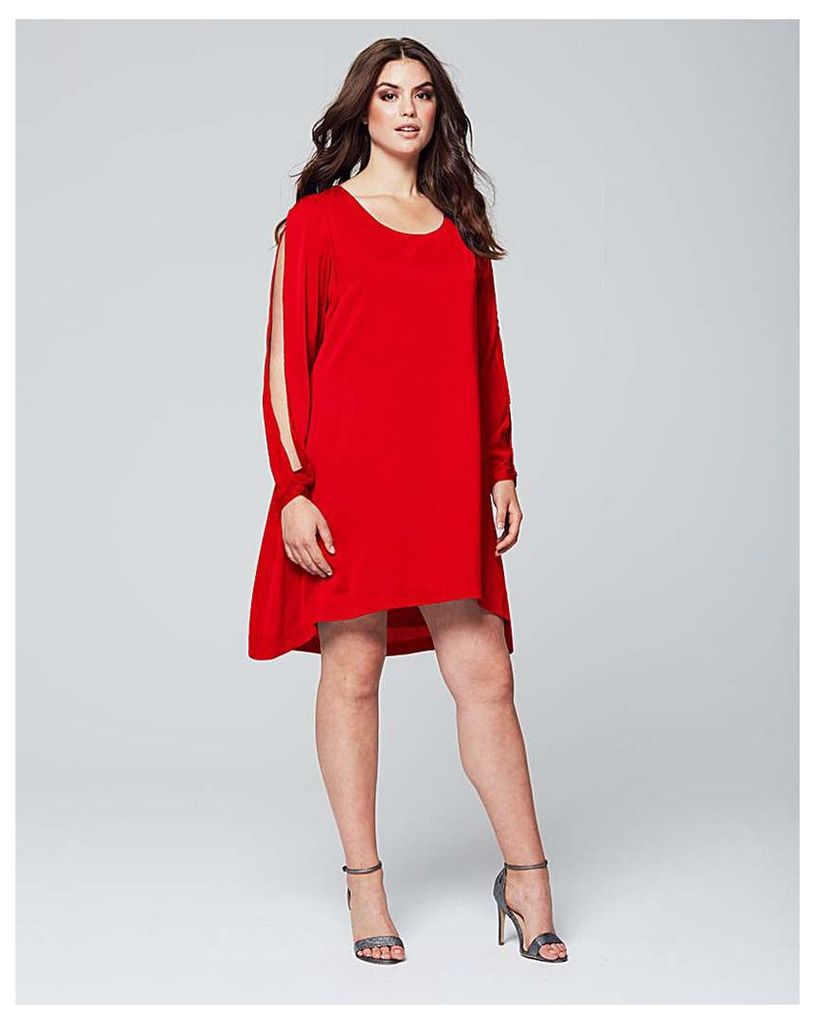 Wolf & Whistle Red Drop Hem Top