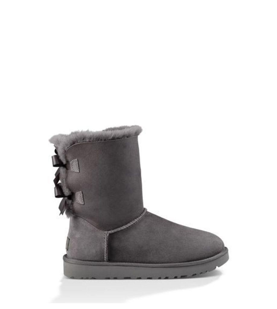 UGG Bailey Bow Ii Womens Classic Boots Grey 5