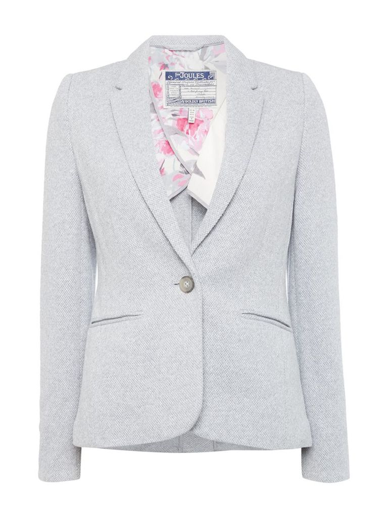 Joules Jersey textured blazer, Grey