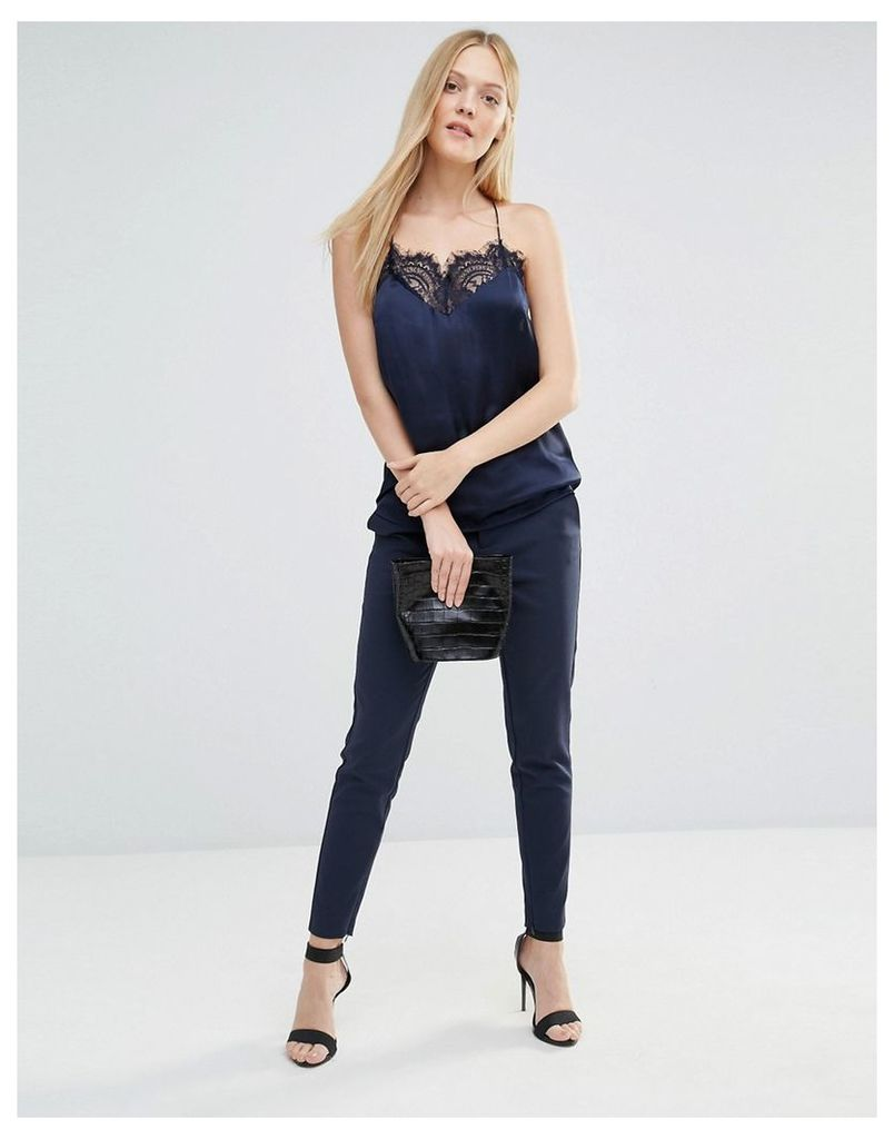 Selected Vennie Cropped Trouser - Navy blazer