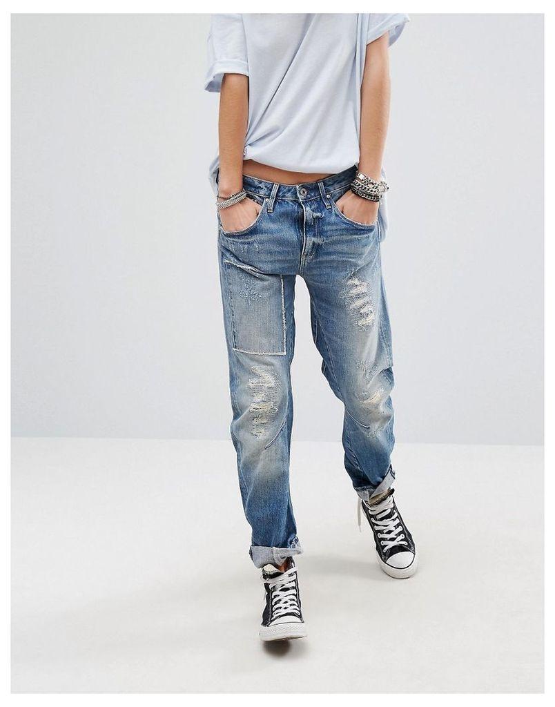 G-Star Arc 3D Kate Boyfriend Jeans - Vintage blue