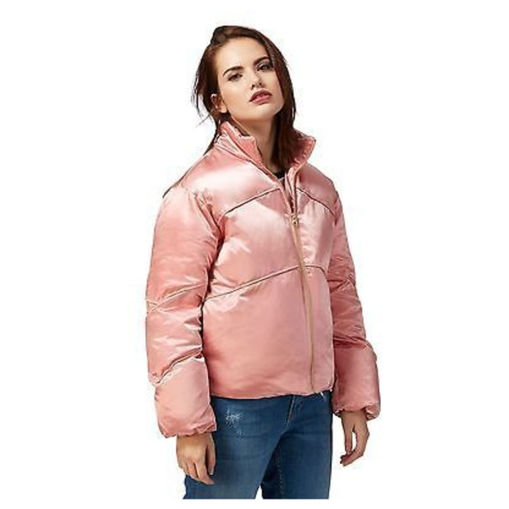 H! By Henry Holland Womens Pink Cropped Quilt Jacket From Debenhams