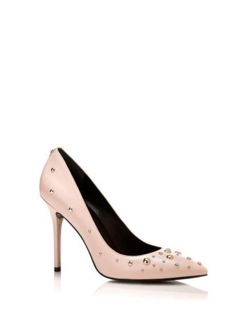Guess Padela Leather Stud Court Shoe