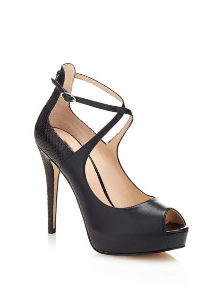 Guess Hadio Leather Open-Toe Shoe