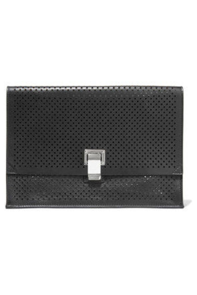 Proenza Schouler - Perforated Leather Clutch - Black