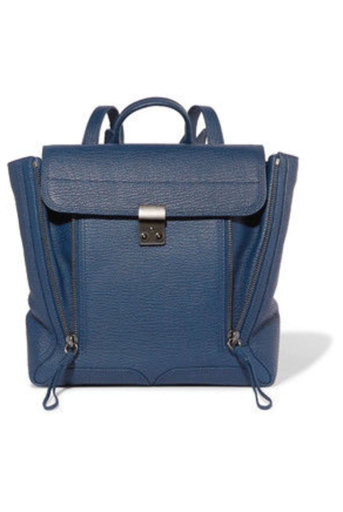 3.1 Phillip Lim - Pashli Textured-leather Backpack - Navy