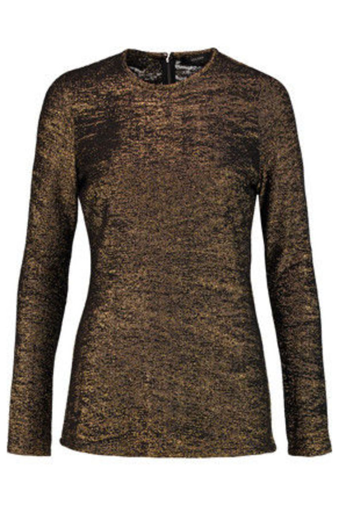Ellery - Metallic Knitted Top - Gold