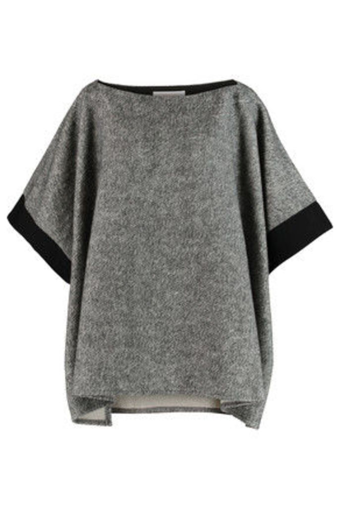 See by Chloé - Grosgrain-trimmed Cotton-fleece Top - Gray