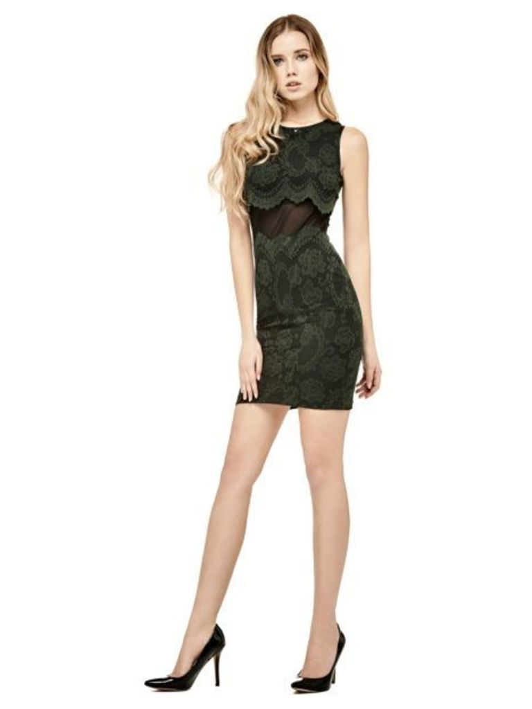 Guess Dress With Transparent Pattern