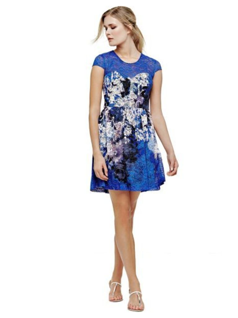Guess Printed Lace Dress