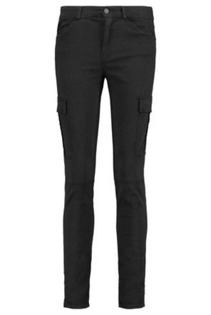 7 for all mankind - The Skinny Cargo Washed-twill Pants - Black