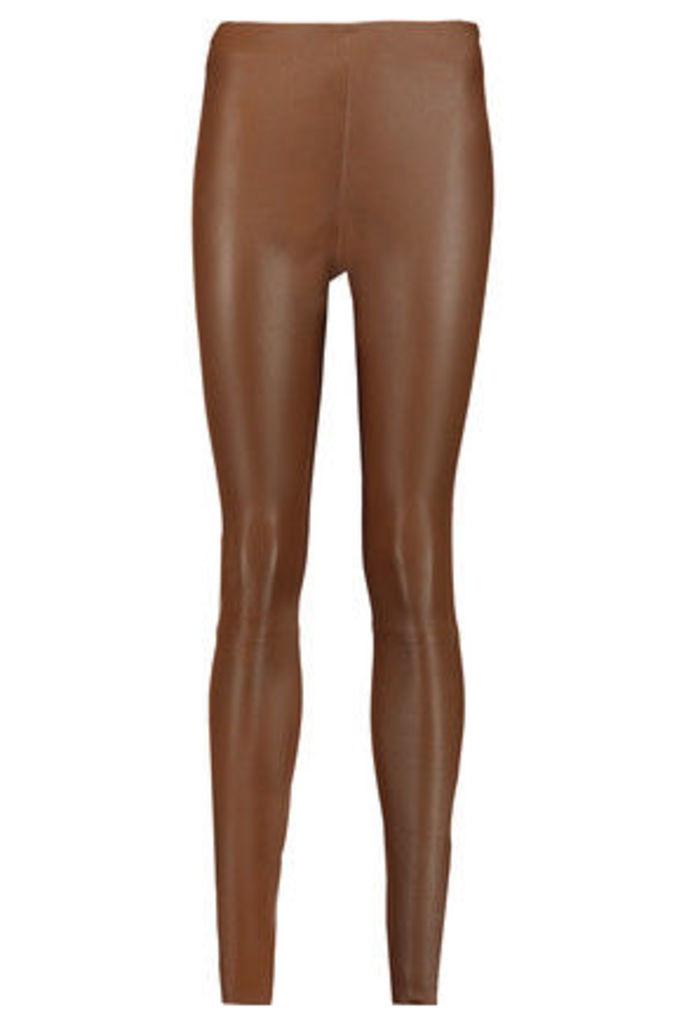 By Malene Birger - Elenasoo Leather Skinny Pants - Brown